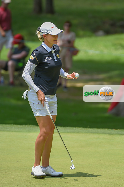 Sarah Jane Smith (AUS) sinks her putt on 2 during round 4 of the U.S. Women's Open Championship, Shoal Creek Country Club, at Birmingham, Alabama, USA. 6/3/2018.<br /> Picture: Golffile | Ken Murray<br /> <br /> All photo usage must carry mandatory copyright credit (© Golffile | Ken Murray)