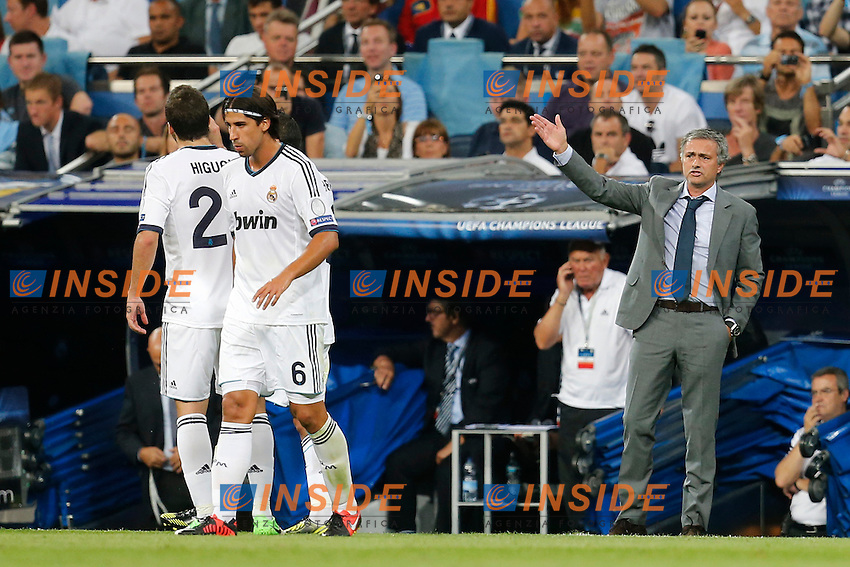 Real Madrid's Jose Mourinho during Champions League match on september 18th 2012...Photo: Cesar Cebola  / ALFAQUI .Madrid 18/9/2012 Stadio Santiago Bernabeu.Football Calcio 2012/2013 Champions League.Real Madrid Vs Manchester City .Foto Insidefoto
