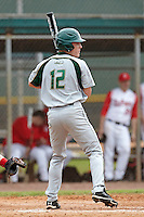 USF Bulls outfielder Kyle Copack #12 at bat during a game against the Ohio State Buckeyes at the Big Ten/Big East Challenge at Walter Fuller Complex on February 17, 2012 in St. Petersburg, Florida.  (Mike Janes/Four Seam Images)