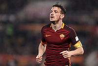 Calcio, Serie A: Roma vs Inter. Roma, stadio Olimpico, 19 marzo 2016.<br /> Roma&rsquo;s Alessandro Florenzi runs during the Italian Serie A football match between Roma and FC Inter at Rome's Olympic stadium, 19 March 2016. The game ended 1-1.<br /> UPDATE IMAGES PRESS/Isabella Bonotto