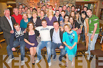 Cian Kingston, Beaufort, pictured with family and friends as he celebrated his 21st birthday in Beaufort Bar on Saturday night...