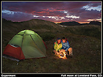 I had seen some interesting landscapes taken under the light of a full moon.<br /> Here, I placed a light in the tent and made a &quot;campfire&quot; using a candle. Pretty simple. Boulder colorado tours.