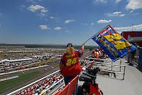 Apr 29, 2007; Talladega, AL, USA; A fan of Nascar Nextel Cup Series driver Jeff Gordon (24) cheers him on during driver introductions prior to the Aarons 499 at Talladega Superspeedway. Mandatory Credit: Mark J. Rebilas