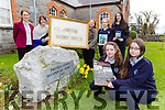 Castleisland Presentation Schools are appealing for people to  send them old pictures and memorabilia for the schools 90th anniversary celebrations front l-r: Sarah O'Mahony, Klaudia Trebacz. Back Katie O'Reilly Shellagh Coffey Moloney, Ailish O'Connor, Kamile Mazonaite and Lauren Butler