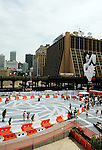 NEW YORK, NY - JULY 28: A general view of the outdoor rollerskating High Line Rink at the grand opening of the High Line Rink at The Lot at The High Line on July 28, 2011 in New York City.  (Photo by Desiree Navarro/WireImage)