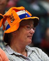 The Netherlands, Den Bosch, 20.04.2014. Fed Cup Netherlands-Japan, Dutch supporter<br /> Photo:Tennisimages/Henk Koster