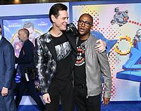 "12 February 2020 - Los Angeles, California - Jim Carrey, Tommy Davidson. ""Sonic the Hedgehog"" Los Angeles Premiere held at the Regency Village Theater. Photo Credit: Birdie Thompson/AdMedia"