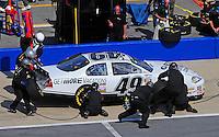 Apr 25, 2009; Talladega, AL, USA; NASCAR Nationwide Series driver Kertus Davis pits during the Aarons 312 at the Talladega Superspeedway. Mandatory Credit: Mark J. Rebilas-