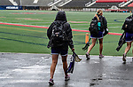 STONY BROOK, NY - MAY 27: Katie Kerrigan #19 of the James Madison Dukes arrives ahead of the Division I Women's Lacrosse Championship held at Kenneth P. LaValle Stadium on May 27, 2018 in Stony Brook, New York. (Photo by Ben Solomon/NCAA Photos via Getty Images)
