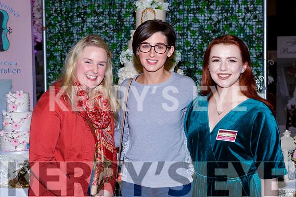 Siobhain Keane Abbeydourney, Mairead Flaherty Kilmoyley  and Clodagh Guerin Askeaton at the Kerry wedding Fair in the INEC on Sunday