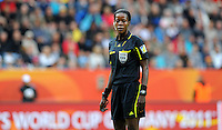 Referee Therese Neguel during the FIFA Women's World Cup at the FIFA Stadium in Dresden, Germany on July 1st, 2011.