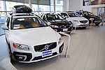 Volvo cars in a dealership. Toronto, Canada.