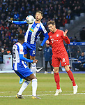 19.01.2020, OLympiastadion, Berlin, GER, DFL, 1.FBL, Hertha BSC VS. Bayern Muenchen, <br /> DFL  regulations prohibit any use of photographs as image sequences and/or quasi-video<br /> im Bild Marko Grujic (Hertha BSC Berlin #15), Javairo Dilrosun (Hertha BSC Berlin #16),<br /> Leon Goretzka (FC Bayern Muenchen #18)<br /> <br />       <br /> Foto © nordphoto / Engler