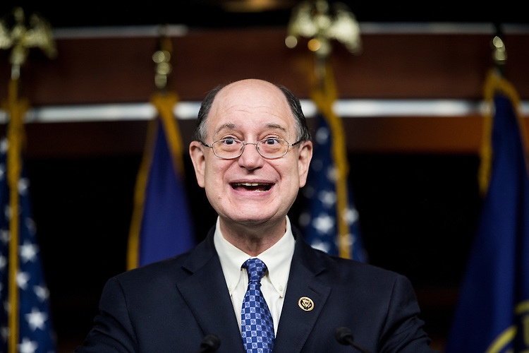 UNITED STATES - JUNE 4: Rep. Brad Sherman, D-Calif., speaks during a press conference with House Democrats on the Export-Import Bank in the Capitol on Thursday, June 4, 2015. (Photo By Bill Clark/CQ Roll Call)