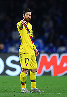 25th February 2020; Stadio San Paolo, Naples, Campania, Italy; UEFA Champions League Football, Napoli versus Barcelona; Lionel Messi of Barcelona