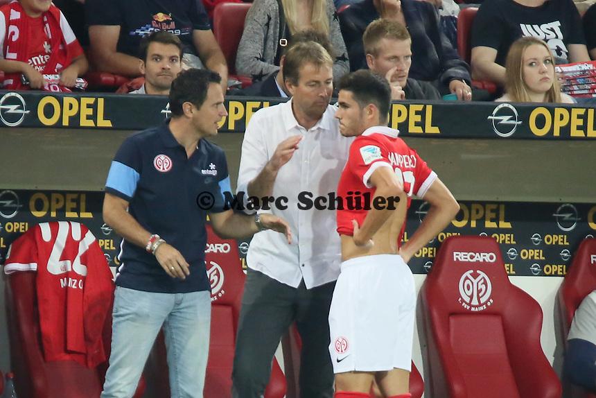 Jairo Samperio (Mainz) wird eingewechselt - 1. FSV Mainz 05 vs. Borussia Dortmund, Coface Arena