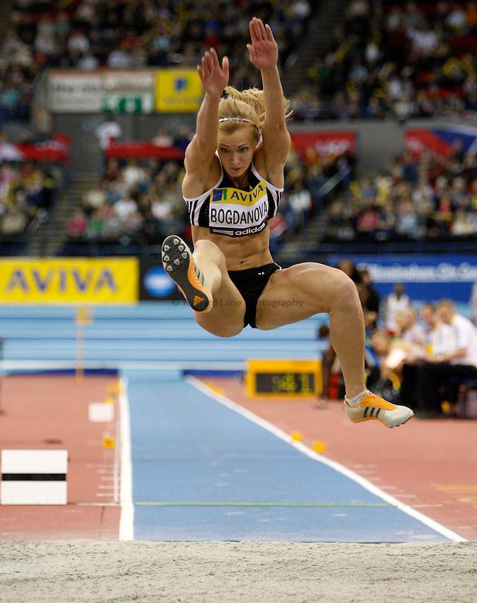 Photo: Richard Lane/Richard Lane Photography..Aviva Grand Prix. 21/02/2009. Russia's Anna Bogdanova during the long jump of the women's three event challenge.