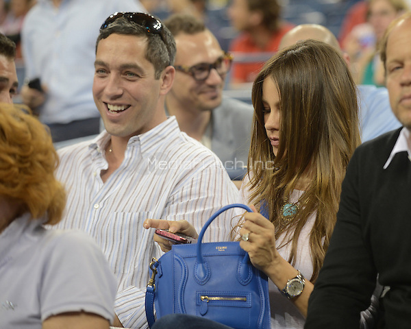 August 30, 2012: Nick Loeb (fiance) and Actress Sofia Vergara watches a match with Venus Williams at Arthur Ashe stadium at the USTA Billie Jean King National Tennis Center in New York City. © mpi04 / MediaPunch Inc.