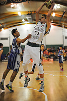 Westlake's Matthew Freeman in action during the 2014 National Secondary Schools Basketball Championship AA boys' semifinal between Westlake Boys' High School and St Patrick's College Town at Arena Manawatu, Palmerston North, New Zealand on Friday, 3 October 2014. Photo: Dave Lintott / lintottphoto.co.nz