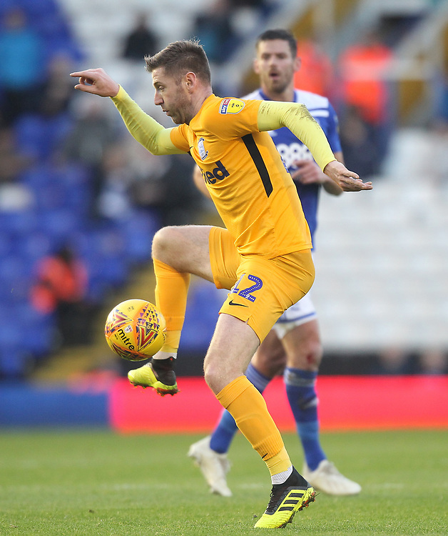 Preston North End's Paul Gallagher<br /> <br /> Photographer Mick Walker/CameraSport<br /> <br /> The EFL Sky Bet Championship - Birmingham City v Preston North End - Saturday 1st December 2018 - St Andrew's - Birmingham<br /> <br /> World Copyright &copy; 2018 CameraSport. All rights reserved. 43 Linden Ave. Countesthorpe. Leicester. England. LE8 5PG - Tel: +44 (0) 116 277 4147 - admin@camerasport.com - www.camerasport.com