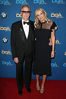 BEVERLY HILLS, CA - FEBRUARY 3: Peter Fonda and Margaret DeVogelaere at the 70th Annual DGA Awards at The Beverly Hilton Hotel in Beverly Hills, California on February 3, 2018. <br /> CAP/MPI/FS<br /> &copy;FS/MPI/Capital Pictures