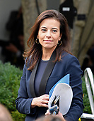 Dina Powell, deputy national security adviser for strategy, arrives prior to United States President Donald J. Trump and Prime Minister Lee Hsien Loong of Singapore making joint statements in the Rose Garden of the White House in Washington, DC on Monday, October 23, 2017.<br /> Credit: Ron Sachs / CNP