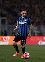 Calcio, Serie A: Roma vs Inter. Roma, stadio Olimpico, 19 marzo 2016.<br /> FC Inter's Marcelo Brozovic in action during the Italian Serie A football match between Roma and FC Inter at Rome's Olympic stadium, 19 March 2016. The game ended 1-1.<br /> UPDATE IMAGES PRESS/Isabella Bonotto