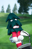 Stanford golf course. Stanford Tree mascot club cover.