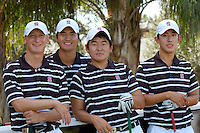 WINDEMERE, FL - OCTOBER 24:  Steve Ziegler, Sihwan Kim, Andrew Yun, and David Chung of the Stanford Cardinal during the Isleworth Collegiate on October 24, 2009 in Windemere, Florida.