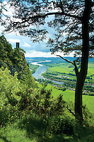 Kinnoull Tower and the River Tay from Kinnoull Hill, Perth, Perthshire