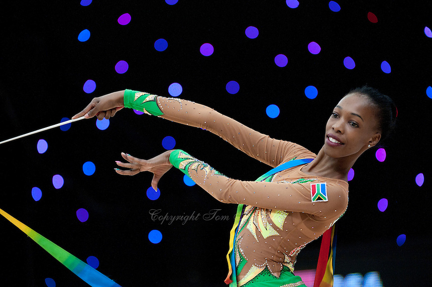 """February 14, 2016 - Tartu, Estonia - GRACE LEGOTE of South Africa performs in Event Finals at """"Miss Valentine"""" 2016 international tournament."""