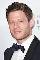 James Norton<br /> in the winners room at the 2016 BAFTA TV Awards, Royal Festival Hall, London<br /> <br /> <br /> &copy;Ash Knotek  D3115 8/05/2016