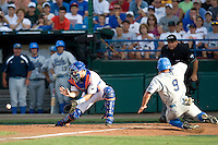 Florida's Mike Zunio against UCLA in Game 2 of the NCAA Division One Men's College World Series on Saturday June 19th, 2010 at Johnny Rosenblatt Stadium in Omaha, Nebraska.  (Photo by Andrew Woolley / Four Seam Images)