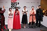 September 9, 2017, Tokyo, Japan - (L-R) Arisa Urahama, Mademoiselle Yulia, Yuka Mannami, Hikari Mori, Mika Nakashima, Ryo Ryusei and Naoki Kobayashi pose for photo at the opening ceremony for the Vogue Fashion's Night Out 2017 in Tokyo on Saturday, September 9, 2017. Some 630 shops participated one-night fashion shopping event in Tokyo. (Photo by Yoshio Tsunoda/AFLO) LWX -ytd-
