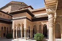 ESP, Spanien, Andalusien, Granada: Alhambra, Patio de los Leones, Details   ESP, Spain, Andalusia, Granada: Alhambra, Patio de los Leones, Details
