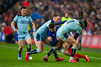 8th March 2020; Murrayfield Stadium, Edinburgh, Scotland; International Six Nations Rugby, Scotland versus France; Peato Mauvaka of France is tackled by Allan Dell of Scotland