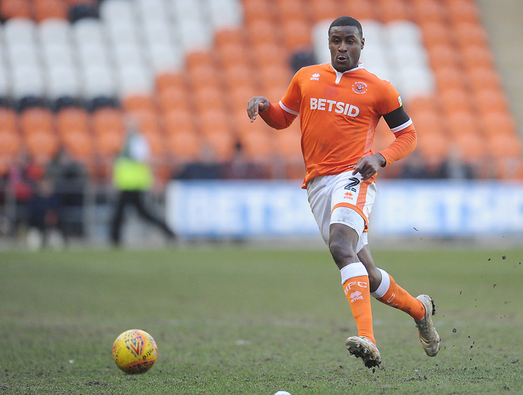 Blackpool's Donervon Daniels<br /> <br /> Photographer Kevin Barnes/CameraSport<br /> <br /> The EFL Sky Bet League One - Blackpool v Walsall - Saturday 9th February 2019 - Bloomfield Road - Blackpool<br /> <br /> World Copyright &copy; 2019 CameraSport. All rights reserved. 43 Linden Ave. Countesthorpe. Leicester. England. LE8 5PG - Tel: +44 (0) 116 277 4147 - admin@camerasport.com - www.camerasport.com