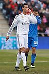 Real Madrid´s Cristiano Ronaldo during La Liga match at Coliseum Alfonso Perez stadium  in Getafe, Spain. January 18, 2015. (ALTERPHOTOS/Victor Blanco)