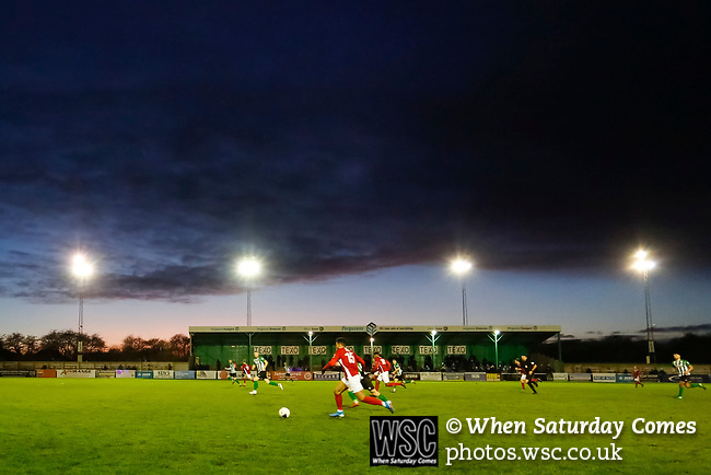Brackley attack. Blyth Spartans v Brackley Town, 30112019. Croft Park, National League North. Photo by Paul Thompson.