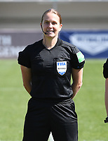 20190301 - LARNACA , CYPRUS : referee Esther Staubli pictured during a women's soccer game between Finland and Czech Republic , on Friday 1 March 2019 at the AEK Arena in Larnaca , Cyprus . This is the second game in group A for Both teams during the Cyprus Womens Cup 2019 , a prestigious women soccer tournament as a preparation on the Uefa Women's Euro 2021 qualification duels. PHOTO SPORTPIX.BE | DAVID CATRY
