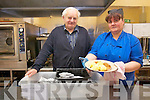 Castlemaine Wheels on Meals service have launched an urgent appeal for more voluntary drivers to help deliver meals to the elderly in the local community. .L-R Timmy Foley (volunteer driver) and chef Anna Maire Butler.