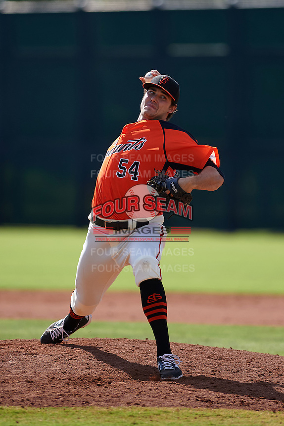 San Francisco Giants pitcher Ray Black (54) during an instructional league game against the Colorado Rockies on October 7, 2015 at the Giants Baseball Complex in Scottsdale, Arizona.  (Mike Janes/Four Seam Images)