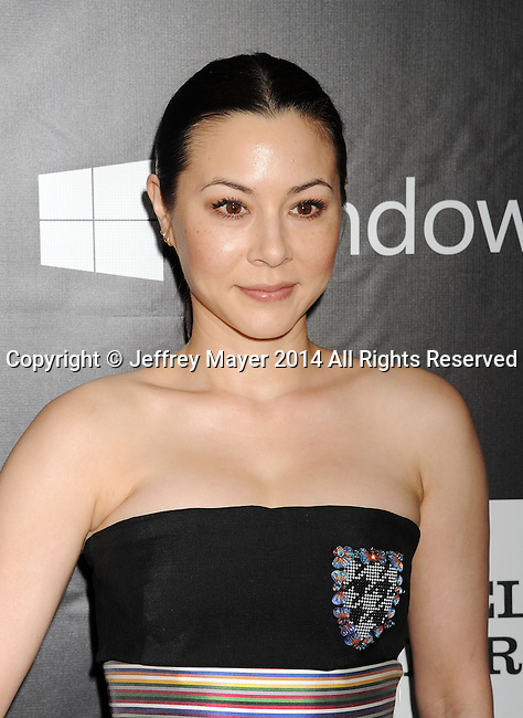 HOLLYWOOD, CA- OCTOBER 29: Actress China Chow attends amfAR LA Inspiration Gala honoring Tom Ford at Milk Studios on October 29, 2014 in Hollywood, California.