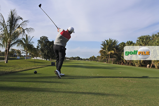 Shane Lowry (IRL) swing sequence during the preview to the WGC Cadillac Championship, Blue Monaster, Trump National, Doral,  Florida, USA. 01/03/2016.<br /> Picture: Golffile | Fran Caffrey<br /> <br /> <br /> All photo usage must carry mandatory copyright credit (&copy; Golffile | Fran Caffrey)