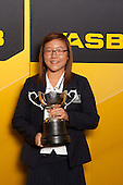 Sportswoman of the Year Lydia Ko from Pinehurst School. ASB College Sport Young Sportsperson of the Year Awards held at Eden Park, Auckland, on November 24th 2011.