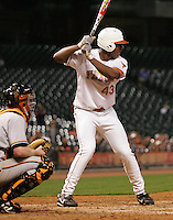 Texas Longhorns OF Kevin Keyes during the 2008 season. Photo by Andrew Woolley / Four Seam Images.