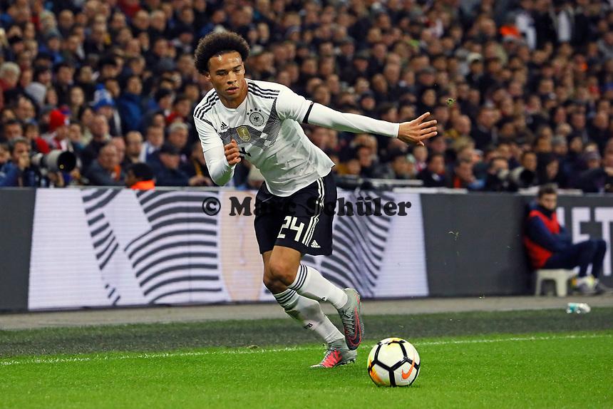 Leroy Sane (Deutschland, Germany) - 10.11.2017: England vs. Deutschland, Freundschaftsspiel, Wembley Stadium