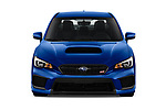 Car photography straight front view of a 2018 Subaru WRX STI Base 4 Door Sedan