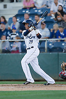 Erick Mejia (29) of the Everett Aquasox at bat during a game against the Vancouver Canadians at Everett Memorial Stadium in Everett, Washington on July 16, 2015.  Vancouver defeated Everett 5-4. (Ronnie Allen/Four Seam Images)