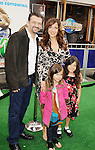 "Universal City, CA - March 27: Maria Canals-Barrera and family arrive at the Los Angeles premiere of ""Hop"" at Universal Studios Hollywood on March 27, 2011 in Universal City, California."